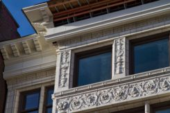 Cornice being renovated