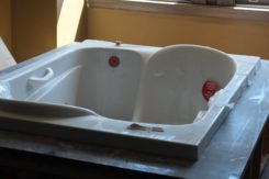 One of our luxurious tubs being installed